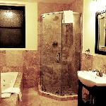 Renovated suite bathroom with jacuzzi tub