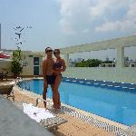 Us at the pool 2