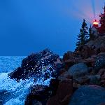 Bass Harbor Light right after sunset