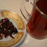 Karkade (hibiscus tea), complimentary