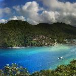 Pano of Marigot Bay from Hotel
