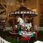 chocolate carousel in the lobby of the Beach Club