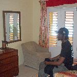 Watching TV (rm 25 = 2 x single beds)