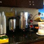 Breakfast Tea, Coffee, Juice, Fruit etc