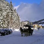 A sleigh ride in the village
