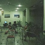 Hotel snack bar and internet corner