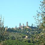 vue de San Gimignano à partir de la piscine