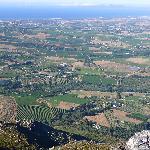 Dornier Wine Estate seen from Stellenbosch Mountain
