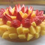 Strawberry Mango fruit tart- a LOT of fruit and DELICIOUS