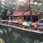 Riverwalk restaurant during the day