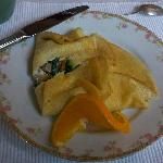 Another breakfast, this time crepes.
