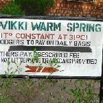 Wikki Warm Spring sign at Yankari