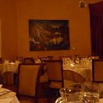 The dining room in a quiet moment