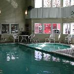 our pool and hot tub are open 24 hours
