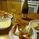 Best shot I have of kitchen, note the delicious crab...