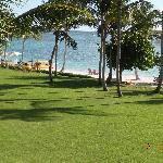 Ocean front villa balcony