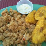 Tasty conch and plantains