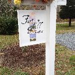 Sign with pumpkins