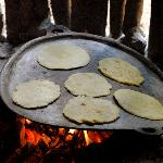 corn tortillas almost ready to eat!, delicious