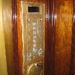 Inside the old-world elevator