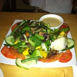 Mango salad with grilled vegetables added
