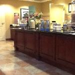 Breakfast area at the Hampton Inn, Wichita
