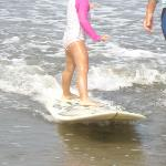 Kyra Surfing 4yrs old