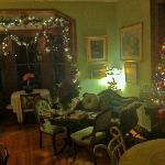 Christmas time visit. The parlor.