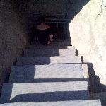 escalier descente au tombeau