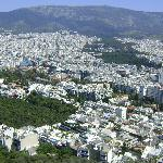 Vista de Atenas desde el monte Lykavitos