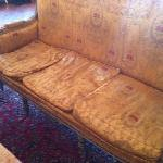 Lovely, sagging couches like this dotted around the lobby.