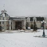 Fresh snowfall on the Ashley Inn
