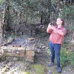 Emily explaining the history of Sarah Island