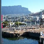 View from room 201 window to Table Mountain