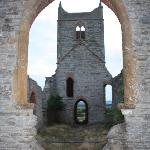 The ruined church on St, Michael's ley-line