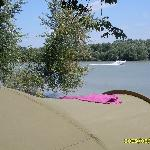 Tent with Danube view in Campsite Pap-sziget, Szentendre