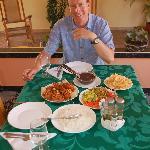 Enjoying the food of Silvia