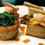 Belly Pork with Thai-spiced prawns & Mango Salsa