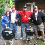 a typical cook out at back of lodge with great friends