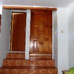 Toilet door , exit and entry door