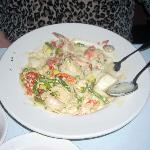 The seafood pasta with lobster is a memorable menu choice at Gheppetto's.