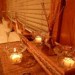 candles, diffusers, bubble bath, champagne...