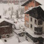 Heavy snow storm as viewed from our hotel bedroom