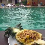 poolside lunch at Pilanta. delicious.