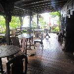 the dining area. breakfast here is a once in a lifetime experience