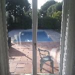 La veranda e la piscina