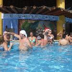 Swim up bar main pool Tulum