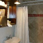 Bathroom with flying shower head