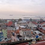View towards the Marmara Sea from the apartment terrace.