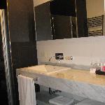 bathroom with great rain shower